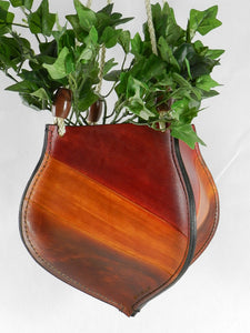 Handcrafted Latigo Leather Plant Hanger / Plant Holder