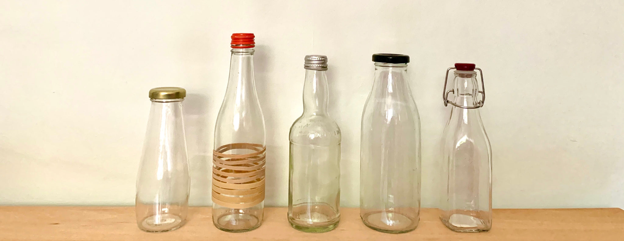 Reusable glass bottles