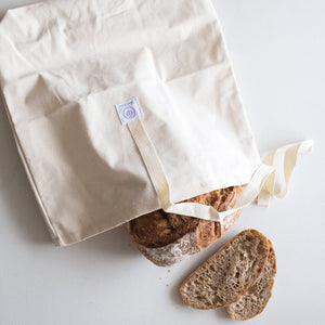 Dans Le Sac White Natural Cotton Bread Bag