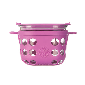 Lifefactory Medium Glass Reusable Food Container Pink