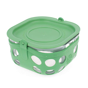 Lifefactory Large Reusable Food Container Green With Lid