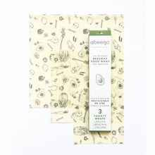 Abeego Beeswax Food Wrap Variety Pack - Small/Med/Large