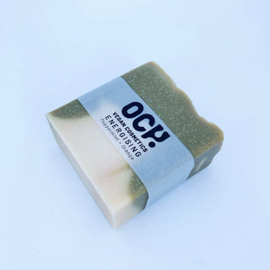 OchVegan Energising Soap Bar Peppermint & Orange with Eco Kraft Packaging
