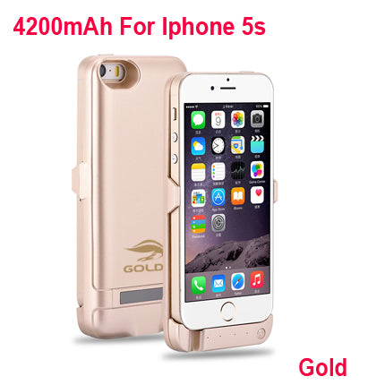 best website fb795 2a842 GOLDFOX External Rechargeable Battery Charger Case for iphone 5 5S ...