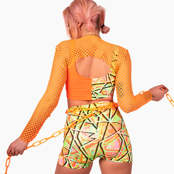 The long sleeve fishnet super crop (all colour options)