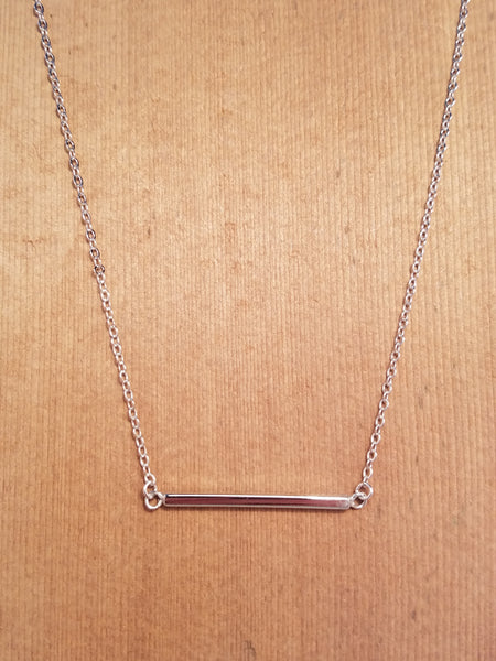 SINGLE BAR STERLING SILVER NECKLACE