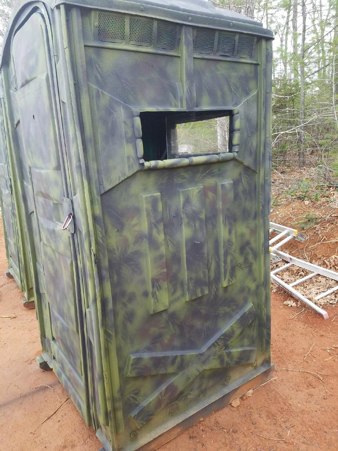 DIY awesome hunting blind from a… Porta-John by Wholery Bird