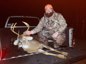 Hunter Harvests 10 Point and Makes it his Fourth Trophy Buck Using Buck Baits Deer Urine Synthetic Scents