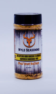 Wyld Seasoning Jalapeno & Bacon Flavored Summer Sausage Mix 10.3 oz.