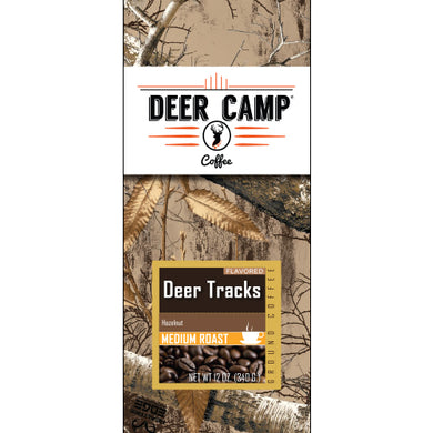 DEER CAMP® Coffee Deer Tracks™ Hazelnut Featuring Realtree EDGE™ Colors 12 oz. Medium Roasted Ground Coffee