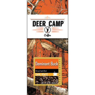 DEER CAMP® Coffee Dominate Buck™  Featuring Realtree EDGE™ Colors 12 oz. Dark Roasted Ground Coffee