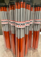 "Tracker Stakes™  Hunter Orange With White  Reflective Tape  12"" Height"