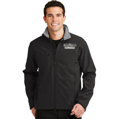 Buck Baits Pro Staff Logo Jacket Black and Chrome