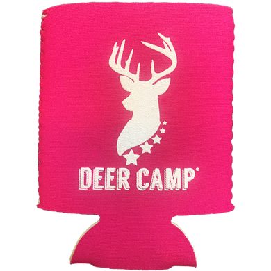 DEER CAMP® Coffee Huntress™ COOLER COMRADE™ Can Cooler (White | Pink)