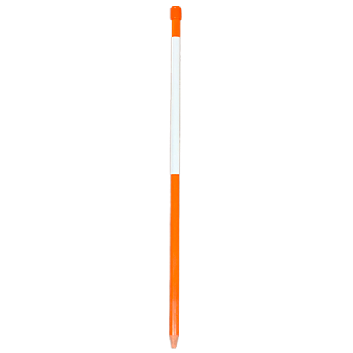 Tracker Stakes™  Hunter Orange With White  Reflective Tape  12