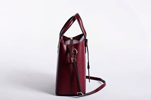 Medium sized satchel handbag and shoulder bag