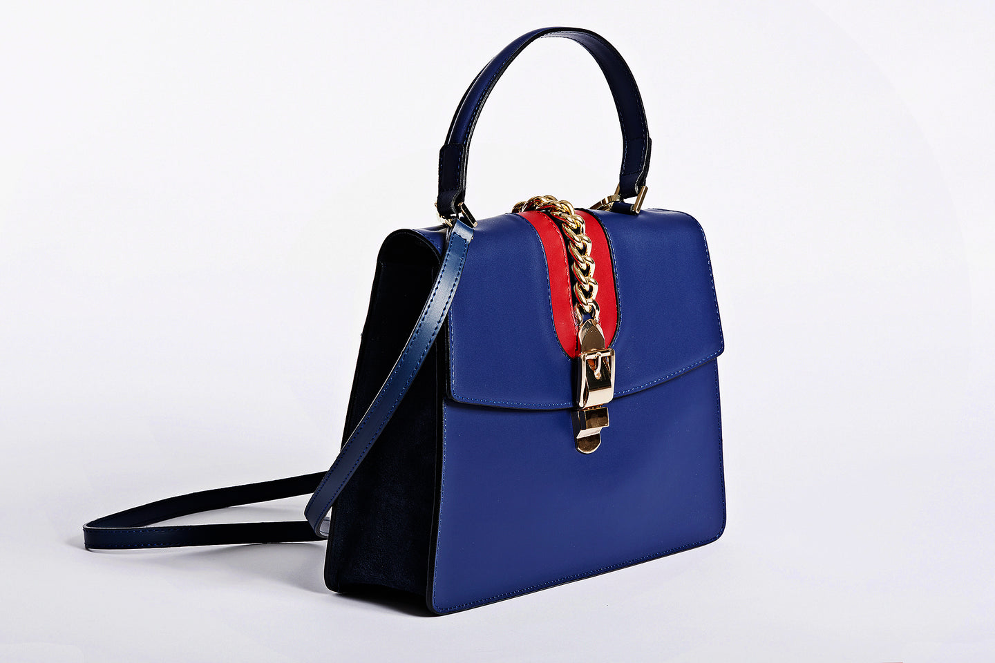 Italian leather side bag and handbag