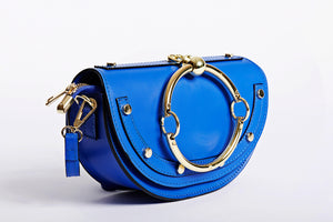Electric Blue Crossbody bag stylish casual look Clutch handbag