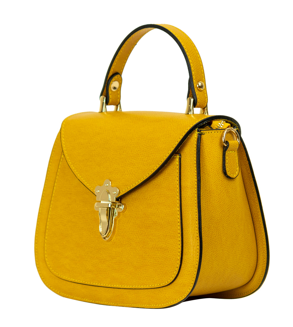 Elise Small Satchel Handbag Mustard