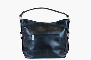 Annah Black Hobo - Leather Handbag