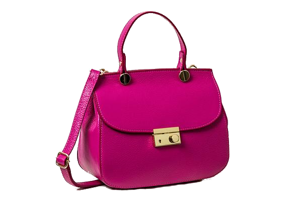 Fuchsia Compact shoulder bag handbag