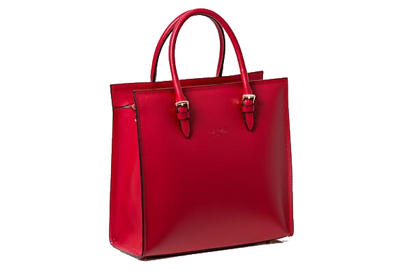 Ottie (Deep red) - Satchel handbag
