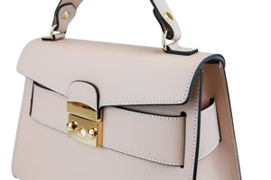Made with smooth aged calfskin & gold tone hardware