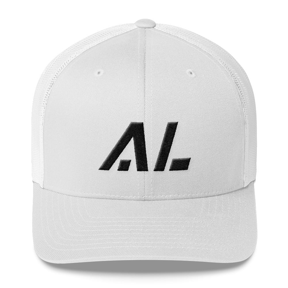 Alabama - Mesh Back Trucker Cap - Black Embroidery - AL - Many Hat Color  Options Available
