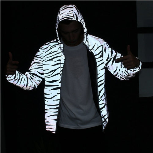 Reflective Tiger Stripe Jacket
