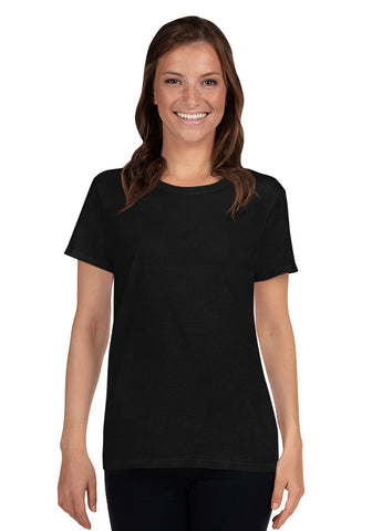 Ladies Heavy Cotton Short Sleeve T-Shirt with Tear Away Label