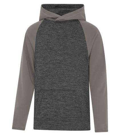 ATC™ DYNAMIC HEATHER FLEECE TWO TONE HOODED YOUTH SWEATSHIRT
