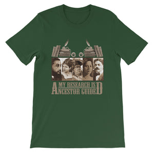 My Research Is Ancestor Guided T-Shirt - Caribbean/Latin Version