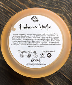frankincense naartjie body mousse