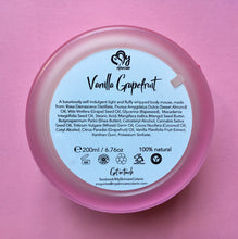vanilla grapefruit body mousse