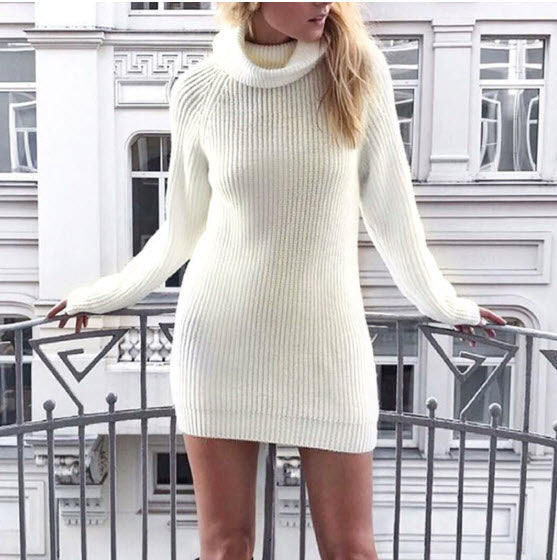 Turtleneck knit Jumper Sweater