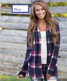 Checkered Cardigan Shirt