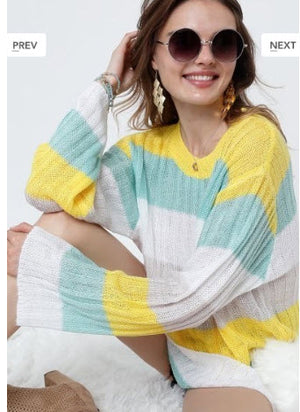 Multi-colored Striped Sweater