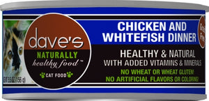 Dave's Naturally Healthy Chicken and Whitefish Canned Cat Food