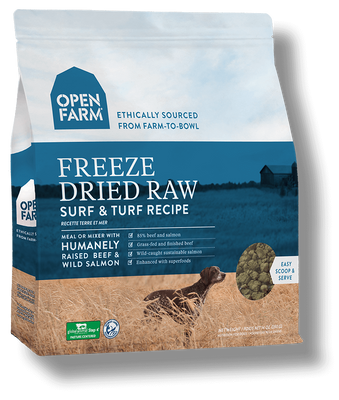 Open Farm Grain Free Surf & Turf Recipe Freeze Dried Raw Dog Food