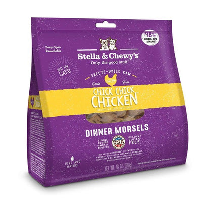Stella & Chewy's Chick Chick Chicken Cat Food Dinner Morsels 18oz