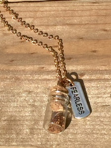 "Rose Gold ""Plant a Seed"" Necklace - FEARLESS"