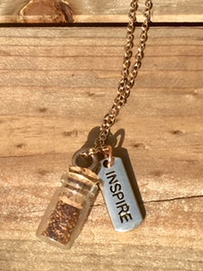 "Rose Gold ""Plant a Seed"" Necklace - INSPIRE"