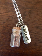 "Silver ""Plant a Seed"" Necklace - BRAVE"