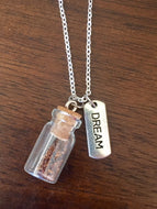 "Silver ""Plant a Seed"" Necklace - DREAM"