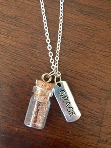 "Silver ""Plant a Seed"" Necklace - GRACE"