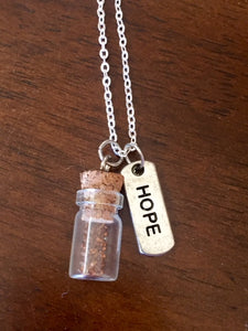 "Silver ""Plant a Seed"" Necklace - HOPE"