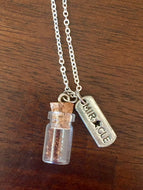 "Silver ""Plant a Seed"" Necklace - MIRACLE"