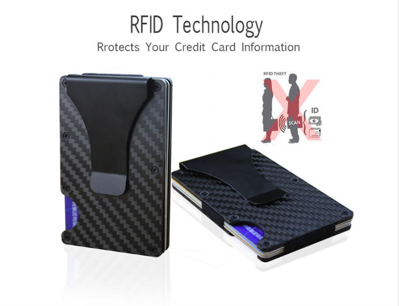977a8928f8f ... Wallight™ Carbon Fiber RFID Blocking Technology Money Clip Wallet ...
