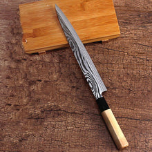 8 inch Japanese Steel Damascus Pattern Filleting Knife