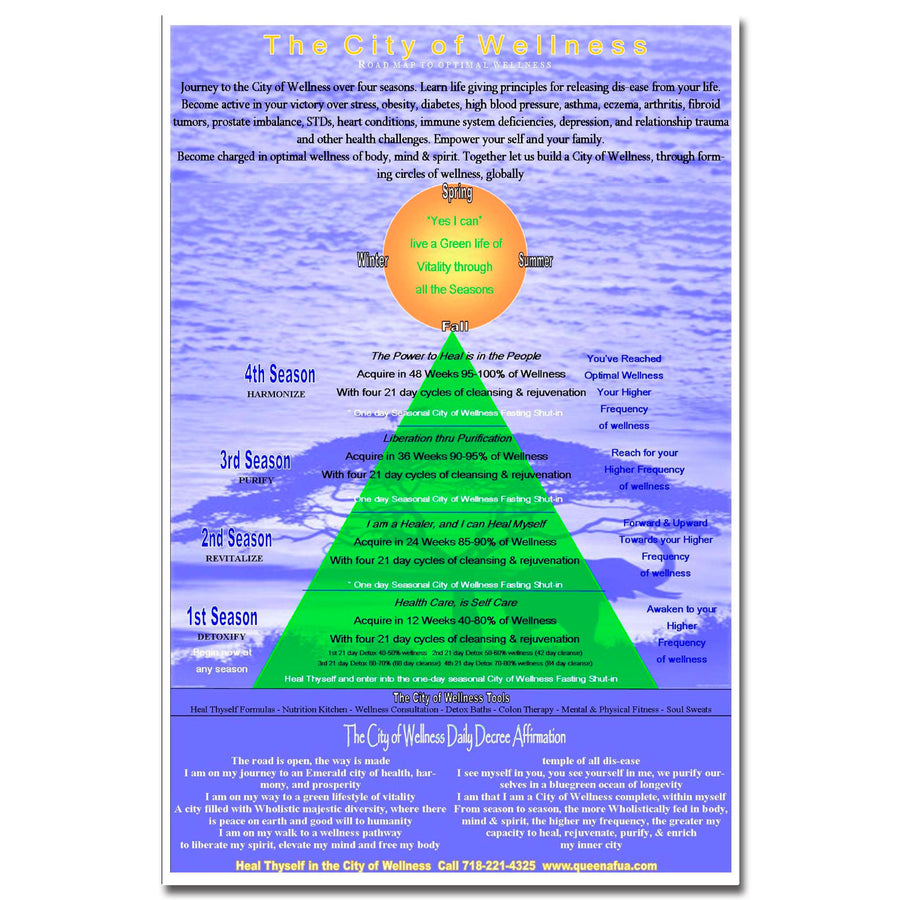 Roadmap to Wellness Chart